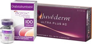 Botox Juvederm packaging